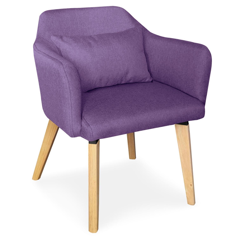 Chaise / Fauteuil scandinave Shaggy Tissu Violet