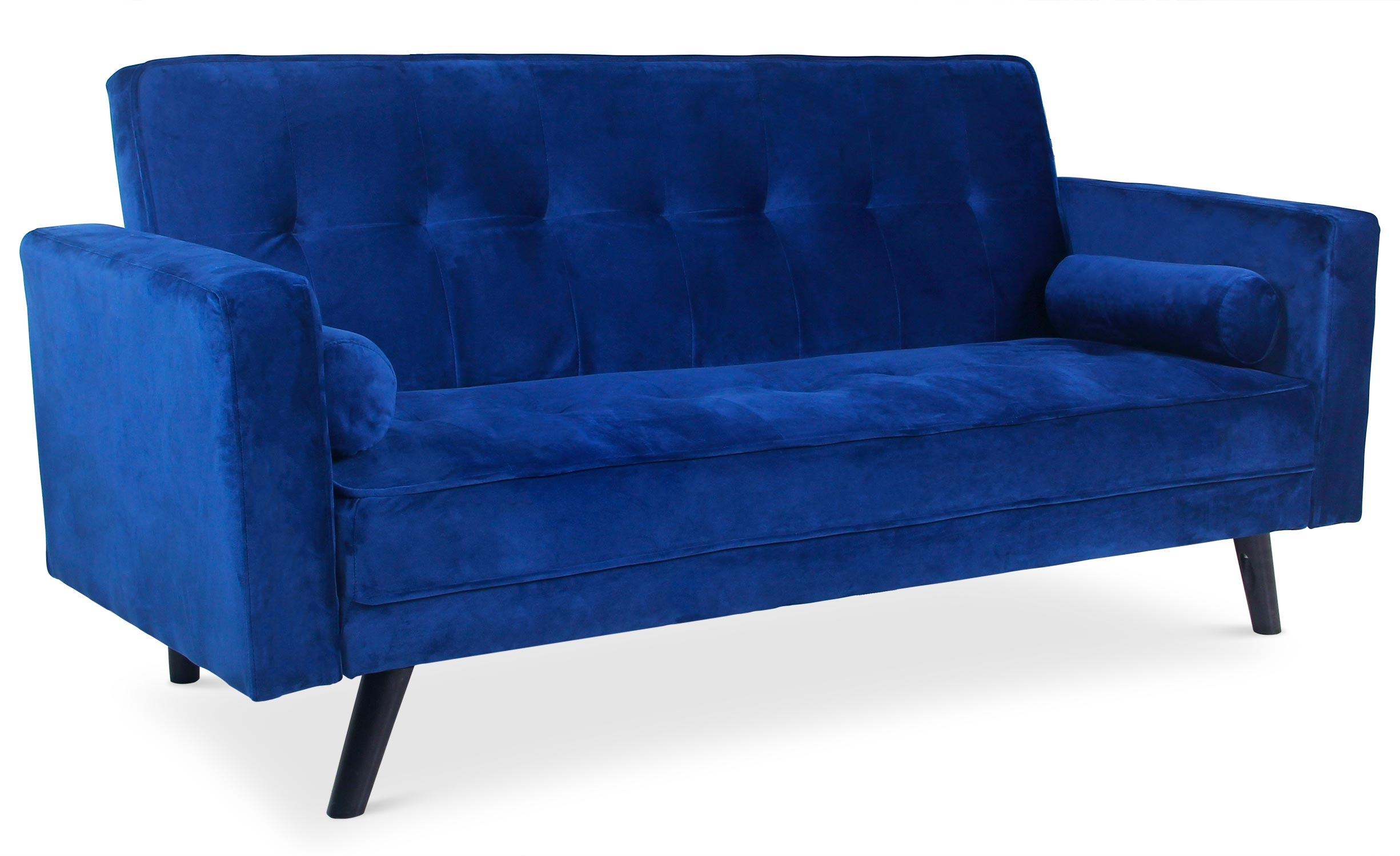 Canapé convertible clic-clac scandinave Slow Velours Bleu