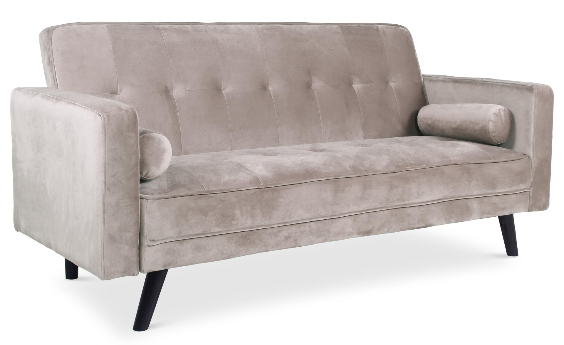 Canapé convertible scandinave Slow Velours Taupe