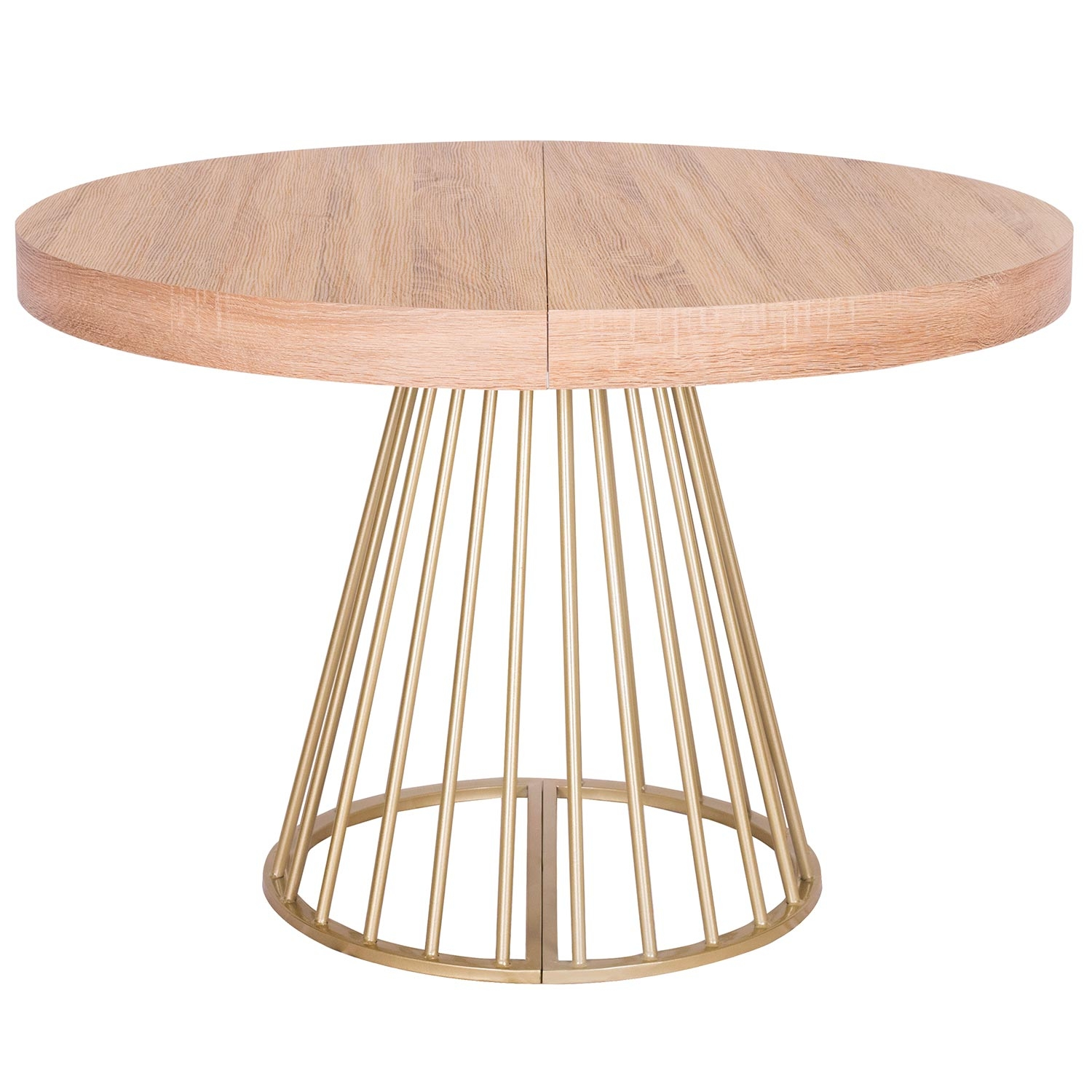 Table ronde extensible Soare Chêne Clair