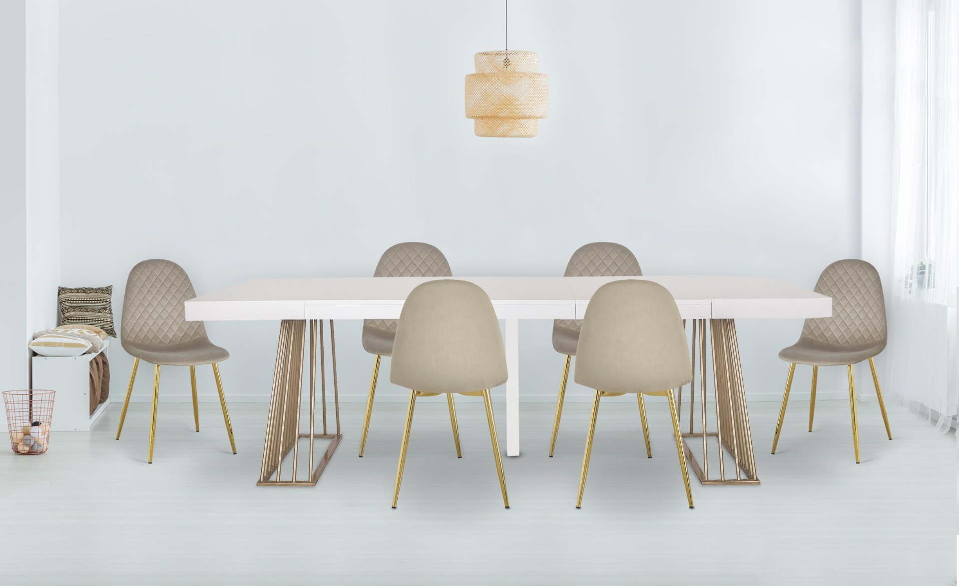 Table extensible Solix Bois Noir