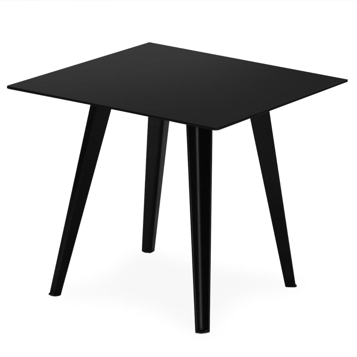 Table d'appoint magnétique carrée 40cm Bipolart Métal Noir