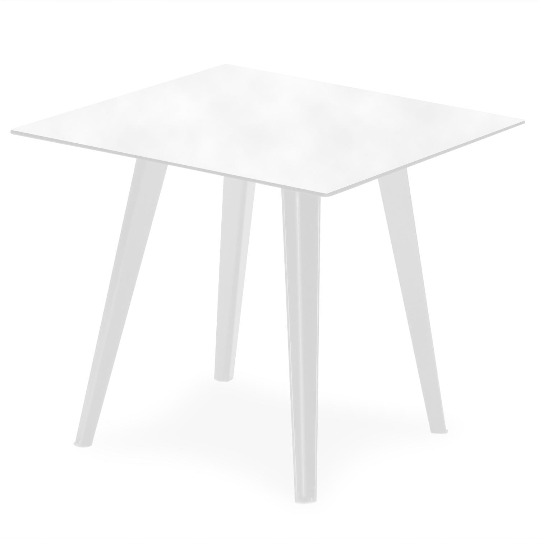 Table d'appoint magnétique carrée 40cm Bipolart Métal Blanc avec 1 Top Tableau blanc effaçable