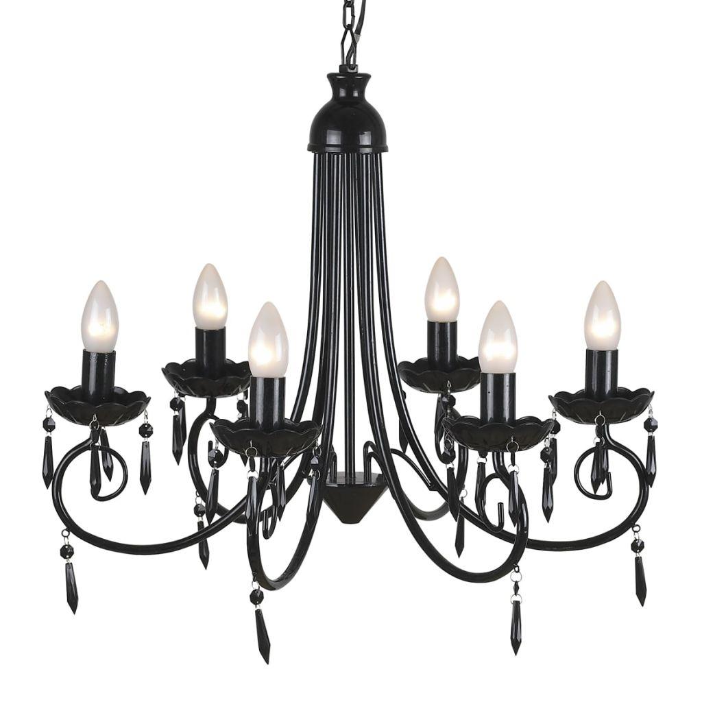 Suspension lustre 6 lumières Monalisa Noir