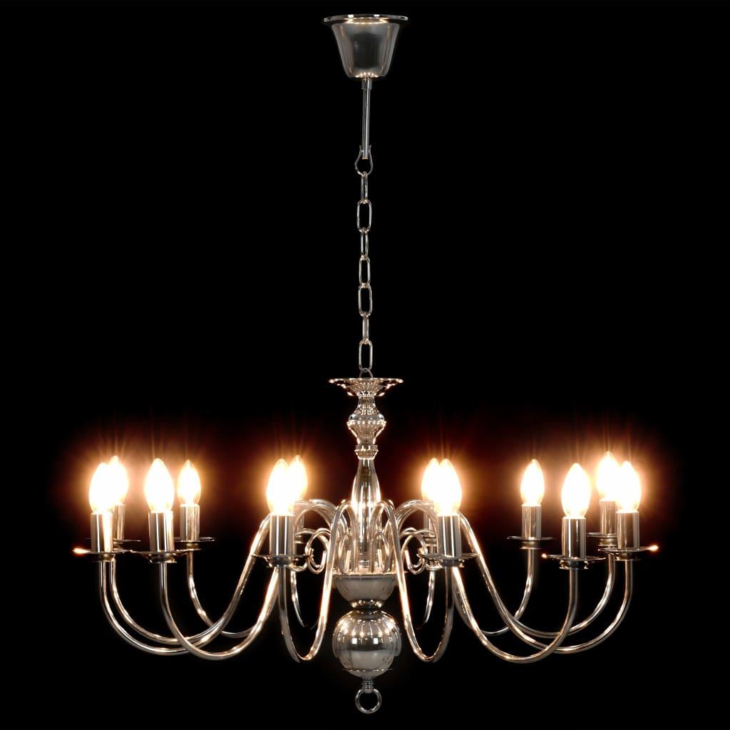 Suspension lustre Millux 12 ampoules Métal Argenté