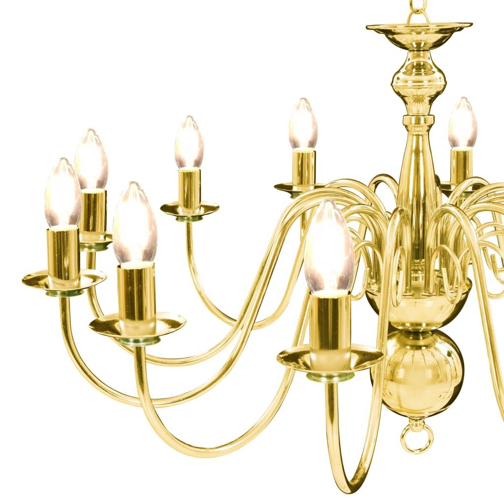 Suspension lustre Millux 12 ampoules Métal Doré