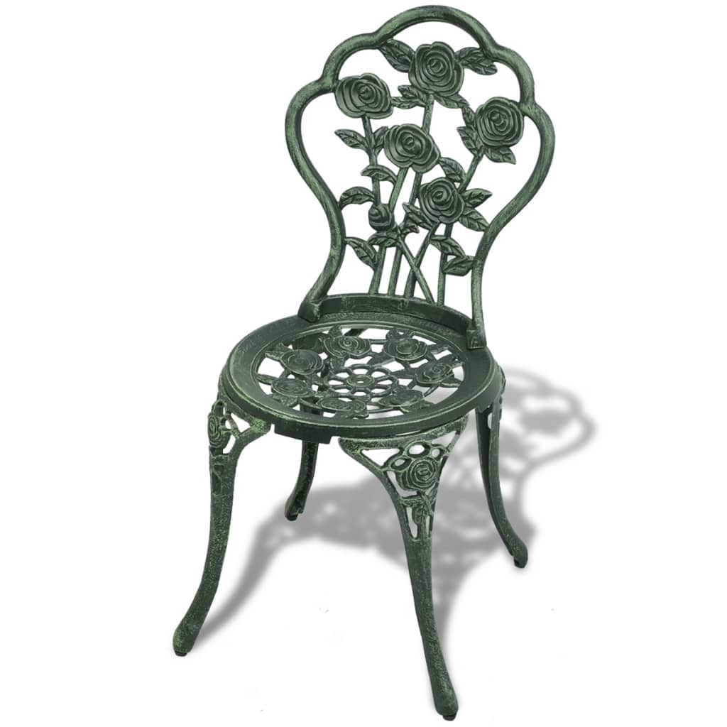 Table + 2 chaises Saphir Aluminium Vert