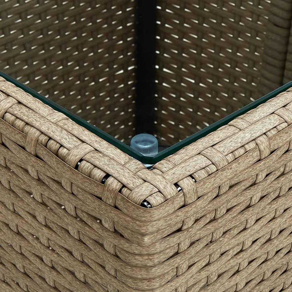 Table basse de jardin Minuartie Verre Transparent et Résine Beige