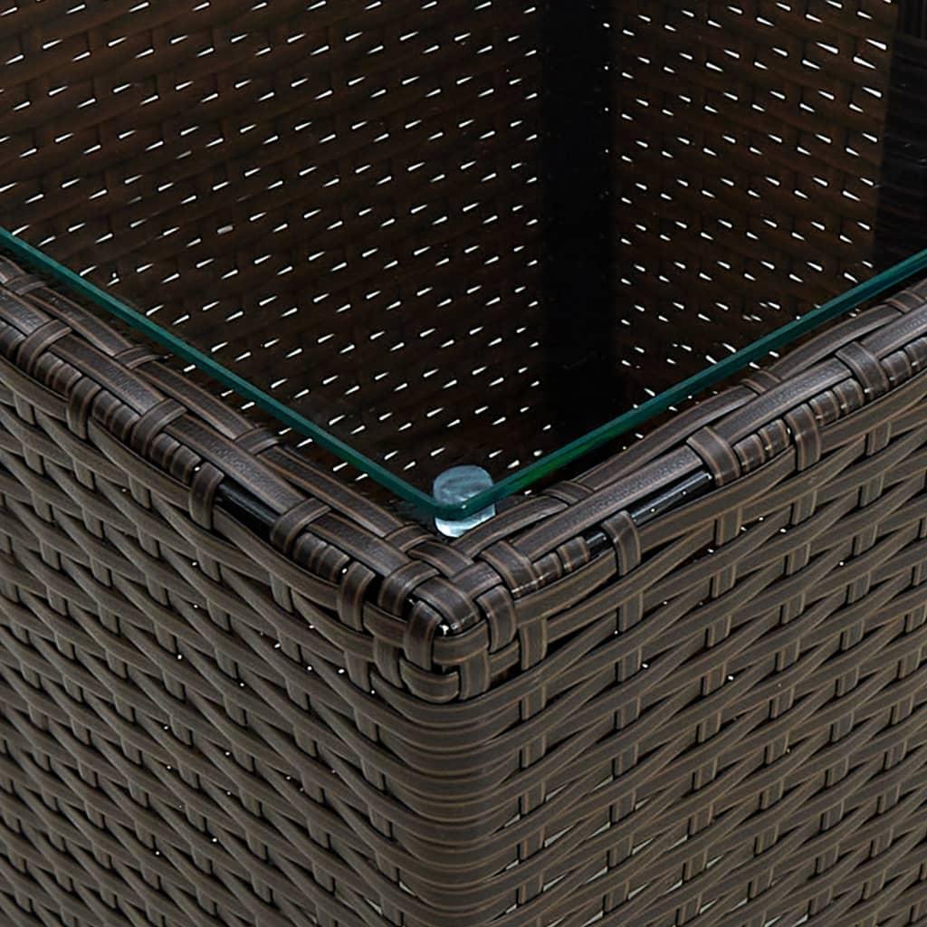 Table basse de jardin Minuartie Verre Transparent et Résine Marron