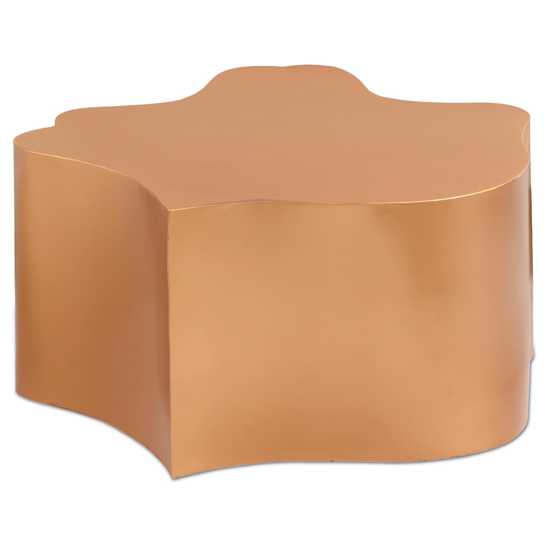 Table basse Perancis Aluminium Or