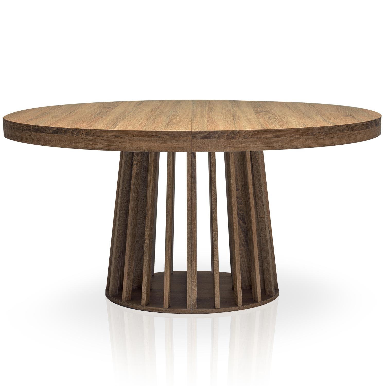 Table ovale extensible Eliza Bois noisette