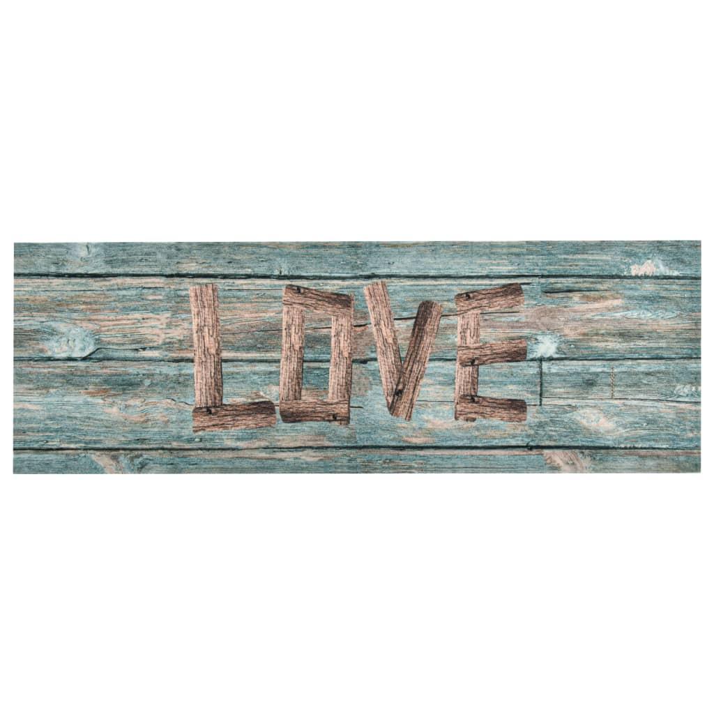 Tapis cuisine Lamma 60x180cm Tissu Motif Love