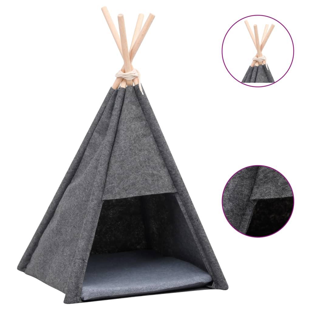 Tente pour chats avec sac Chipie 40x70cm Noir