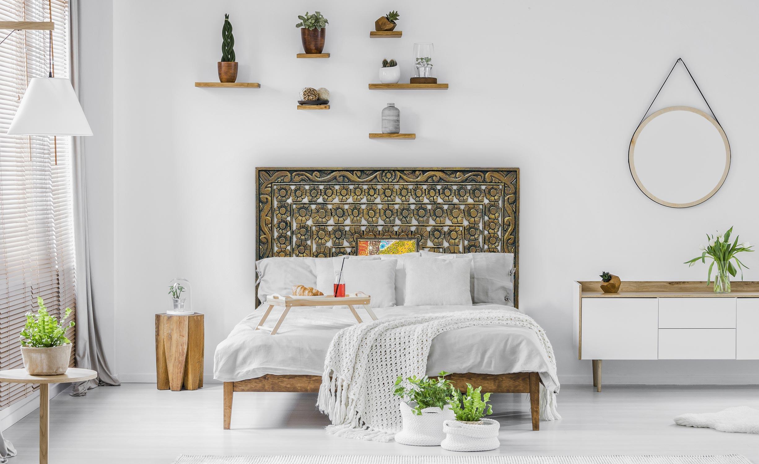 Tête de lit Fleuralie 160cm Bois Bronze