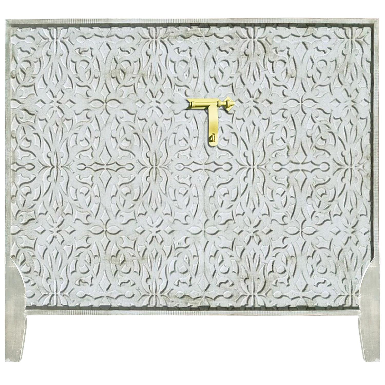 Tête de lit Saffiya 160cm Bois Blanc Or