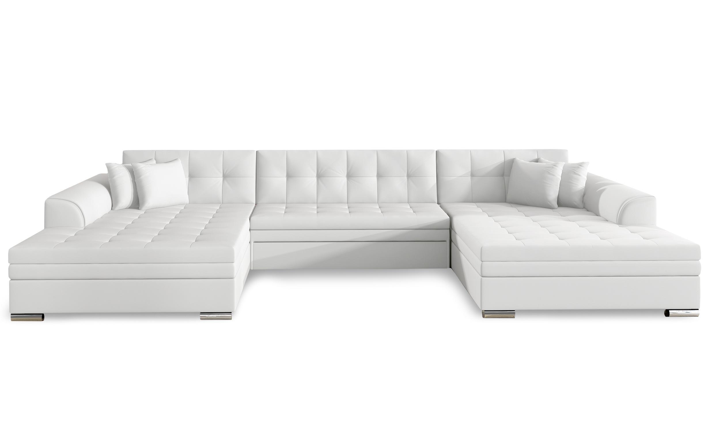 Canapé d'angle convertible Vento Simili Blanc